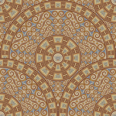 Seamless background of patterns ornament the Greek style.