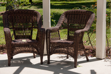 Wicker Chairs on a Veranda