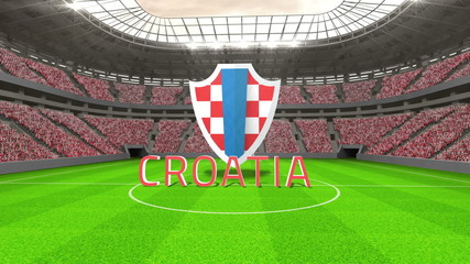 Croatia world cup message with badge and text