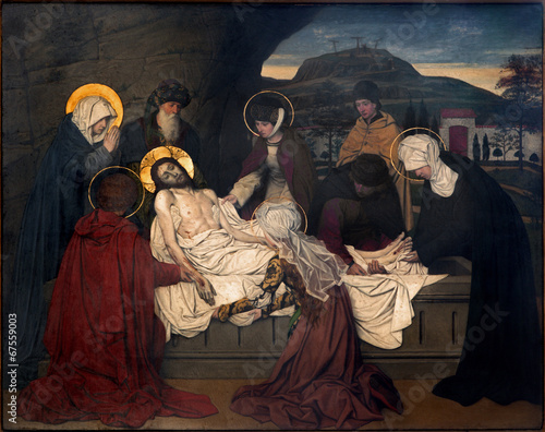 Antwerp - Fresco - Burial of Jesus in the cathedral - 67559003
