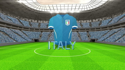 Italy world cup message with jersey and text