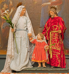 Brussels - Holy family in church Eglise de St Jean et St Etienne