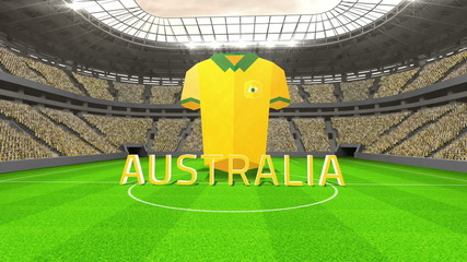 Australia world cup message with jersey and text