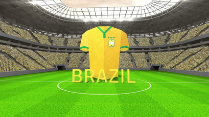 Brazil world cup message with jersey and text