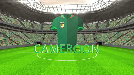 Cameroon world cup message with jersey and text