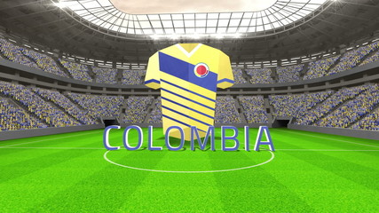 Colombia world cup message with jersey and text