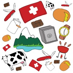 Vector symbols of Switzerland
