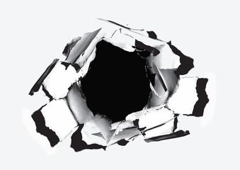 Paper Hole with torn