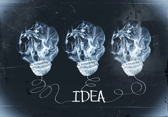 concept crumpled paper light bulb metaphor for good idea