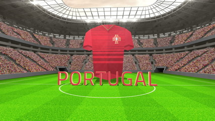 Portugal world cup message with jersey and text