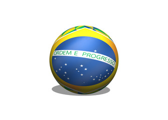 Abstract background Brazil flag concept idea design