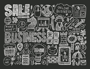 doodle business background
