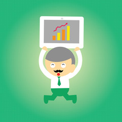 businessman vector cartoon