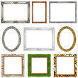 picture frames incl. clipping paths