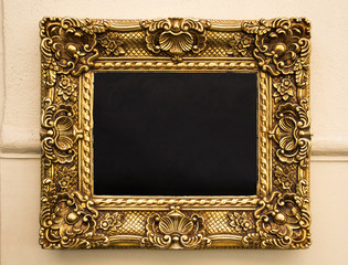 Blackboard in gold vintage frame