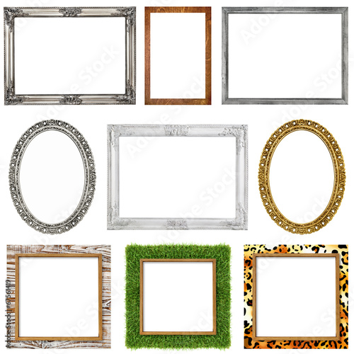 canvas print picture picture frames incl. clipping paths