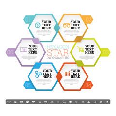 Hexagon Star Infographic