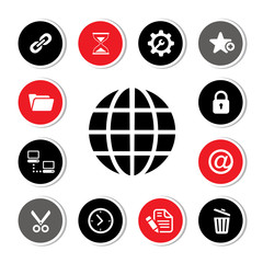 Web hosting icons