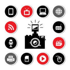 camera and technology symbol