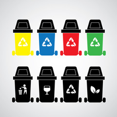 vector recycle bins