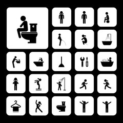 toilet and hygiene icons