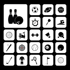 Sports and exercise icons set
