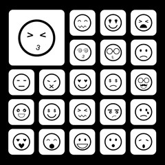faces emoticon icons set
