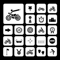 competition motorcycle symbol
