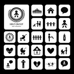 children action welfare icon