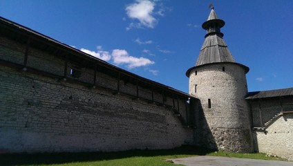 Kremlin, ancient fortress in Russian town Pskov