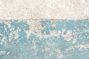The old walls with blue color cracked.