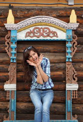 Beautiful girl travel in Rostov