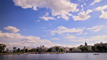Ekaterinburg, panoramic waterfront, Russia