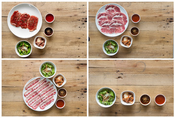 Korean food set for design work