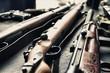 Leinwanddruck Bild - Old guns
