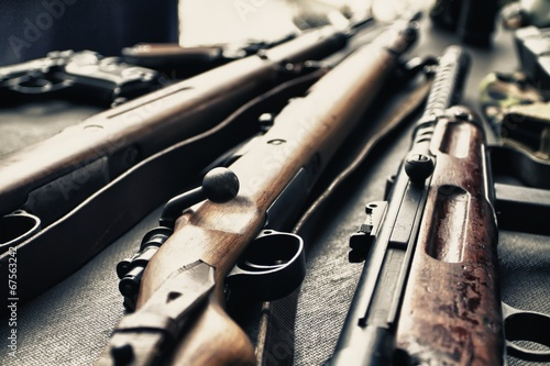 canvas print picture Old guns