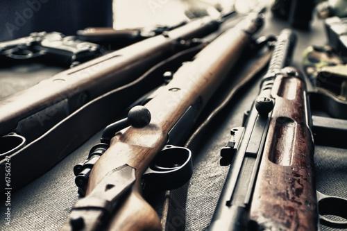 Leinwanddruck Bild Old guns