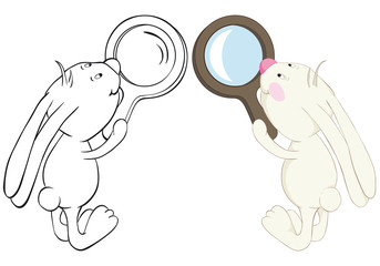 Bunny and loupe