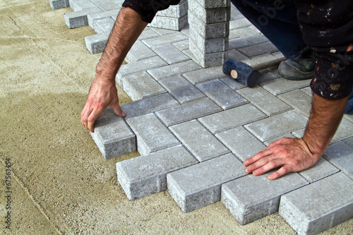 Construction of pavement - 67563454