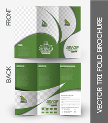 Golf Tournament Tri-Fold Brochure Design