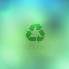 Reuse, reduce, recycle poster design on abstract background
