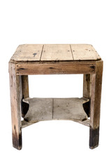 dirty old wooden table