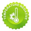 température négative sur bouton web denté vert