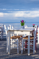 Restaurant table on the beach