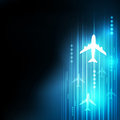 speed aircraft background, business and technology concept
