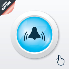 Alarm bell sign icon. Wake up alarm symbol.