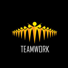 team, teamwork, community, togetherness - vector concept