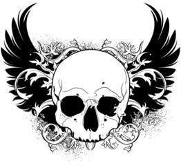 human skull decorative