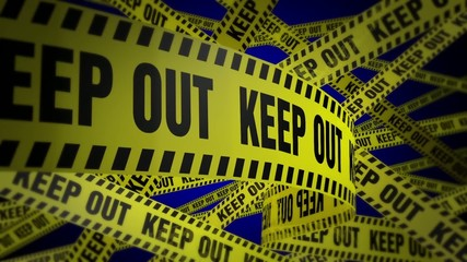 PoliceTape Keepout Blue