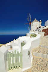 Windmill in Oia, Santorini (Thira), Cyclades, Greece